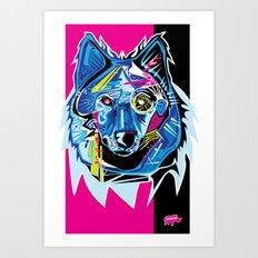 Lazer Wolf Art Print