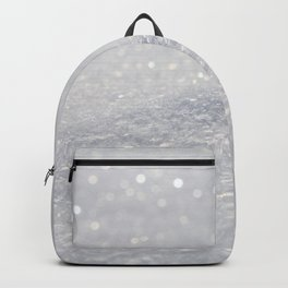 Silver Gray Glitter Sparkle Backpack