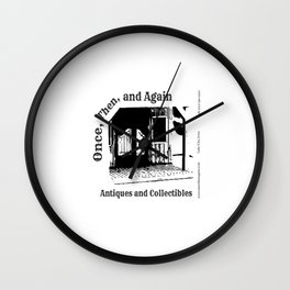 Once, Then, and Again Antiques and Collectables Wall Clock