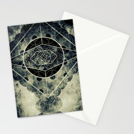 Sacred Geometry for your daily life -  SATURN EYE Stationery Cards