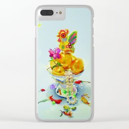 Year of the Rooster (rectangular no border) Clear iPhone Case