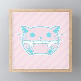 Pastel Pink Macaroon Framed Mini Art Print