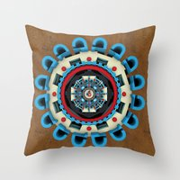 sacred geometry Throw Pillows featuring Sacred Geometry by Angel Decuir