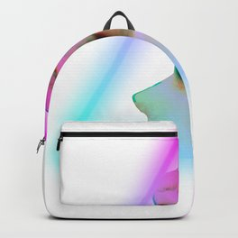 Greek Bust Neon Style graphic Aesthetic 80s retrowave art Backpack
