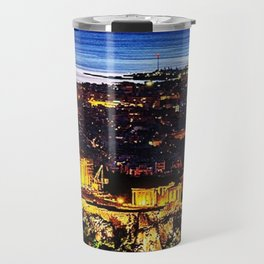 Acropolis ruins at twilight; Athens, Greece Travel Mug