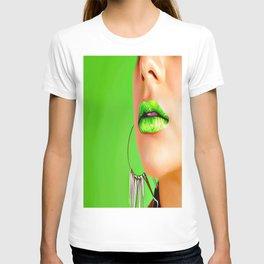 Lips Ethnic green T-shirt