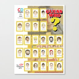 Serial Killer GuessWho Cards Canvas Print