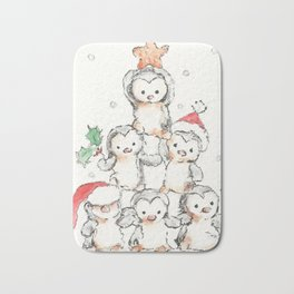 Oh Penguin Tree Bath Mat