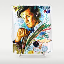Eleventh Doctor Shower Curtain