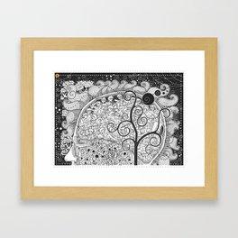 The White Noise Framed Art Print