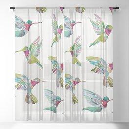Hummingbirds Sheer Curtain