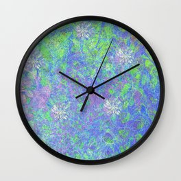 Nature's Patterns Wall Clock