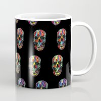 skulls Mugs featuring skulls by Nastya Bo