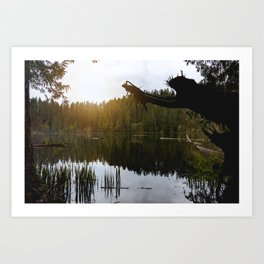 PNW Lake Adventure - Pacific Northwest Nature Photography Art Print