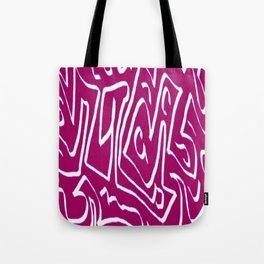 Laberinto violet white Tote Bag