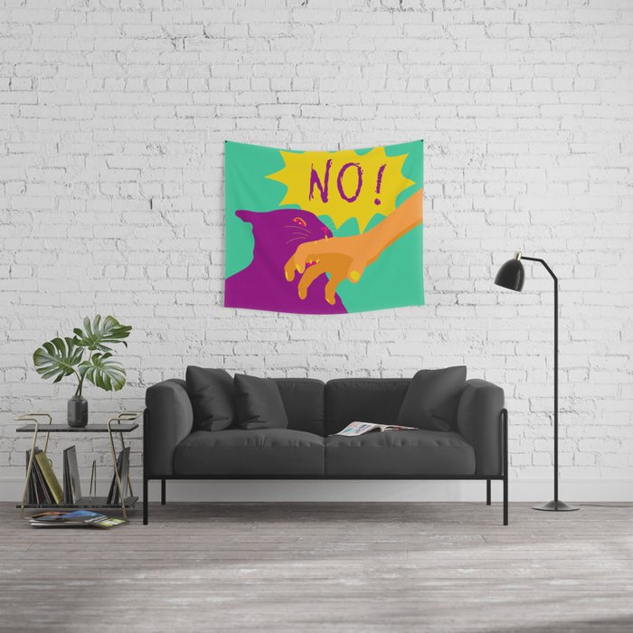Pussy Bites Back Wall Tapestry