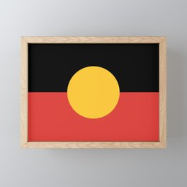 Australian Aboriginal Flag Framed Mini Art Print