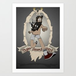 Super Beard Boy - Framed Justice! Art Print