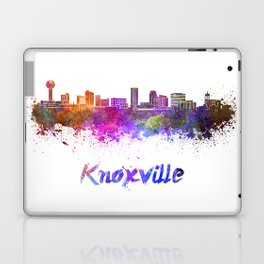 Knoxville skyline in watercolor Laptop & iPad Skin