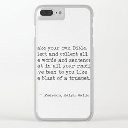 Ralph Waldo Emerson awesome quote 9 Clear iPhone Case