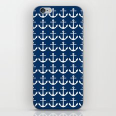 Anchors Navy Blue iPhone & iPod Skin