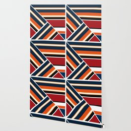 Retro . Combined stripes . Wallpaper