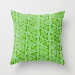 Irregular green Throw Pillow