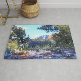 Red Rock Winter in Sedona by Reay of Light Rug