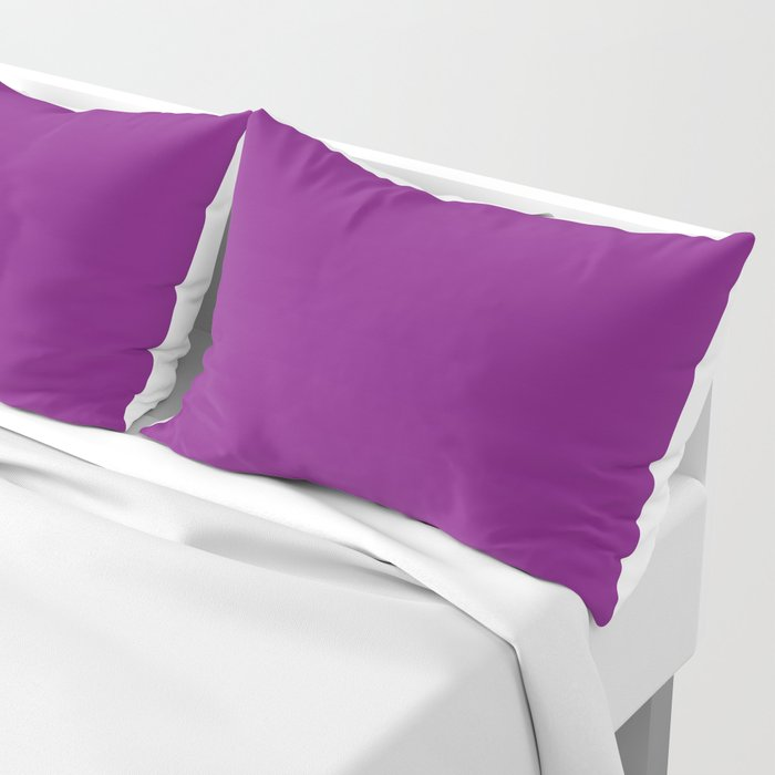 Solid Dark Orchid Purple Color Pillow Sham