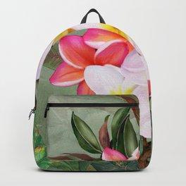 Hawaiian Plumeria Beauty Backpack