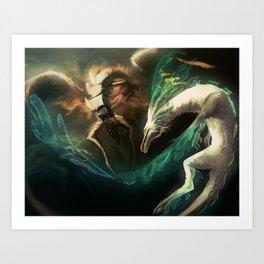 Grima vs Naga Art Print