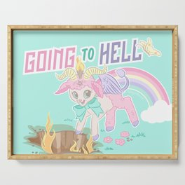 Spring into Hell with Baphomet Serving Tray