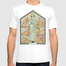 Saint Francis White Mens Fitted Tee MEDIUM
