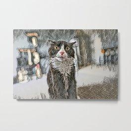 FREAK'IN LOVE MY CAT ... Metal Print