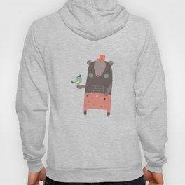Big Bear and Bluebird Pink Hoody