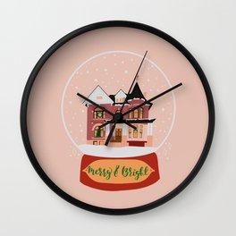 Christmas in Saginaw- Lee Mansion Wall Clock