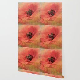 Vintage poppy 4 Wallpaper