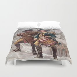 Revolutionary War Soldiers Marching Duvet Cover