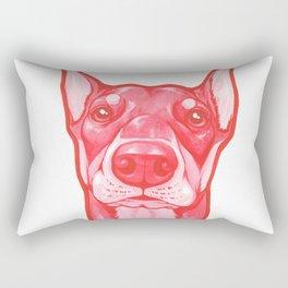 Red Dobie Rectangular Pillow