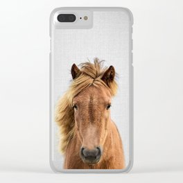 Wild Horse - Colorful Clear iPhone Case