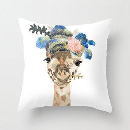 Dandy Giraffe Throw Pillow