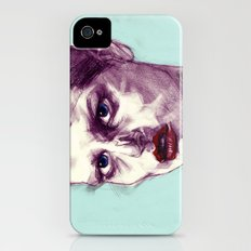 Scary Dirty Face with Red Lips iPhone (4, 4s) Slim Case