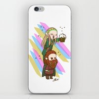 legolas iPhone & iPod Skins featuring Party Legolas and Gimli  by BlacksSideshow