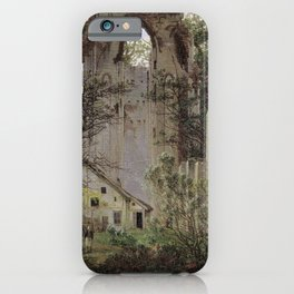 Caspar David Friedrich - Monastery Ruin, Eldena (1824) iPhone Case