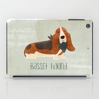 the hound iPad Cases featuring Basset Hound by 52 Dogs