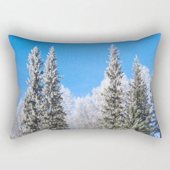 Frozen forest Rectangular Pillow