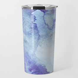 Blue Watercolor Background Travel Mug