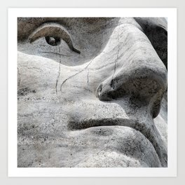Rushmore Face of Washington Art Print