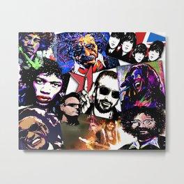 Famous Icons from Einstein to Bono Metal Print