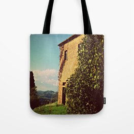 Tuscany Italy Countryside With Villa Tote Bag